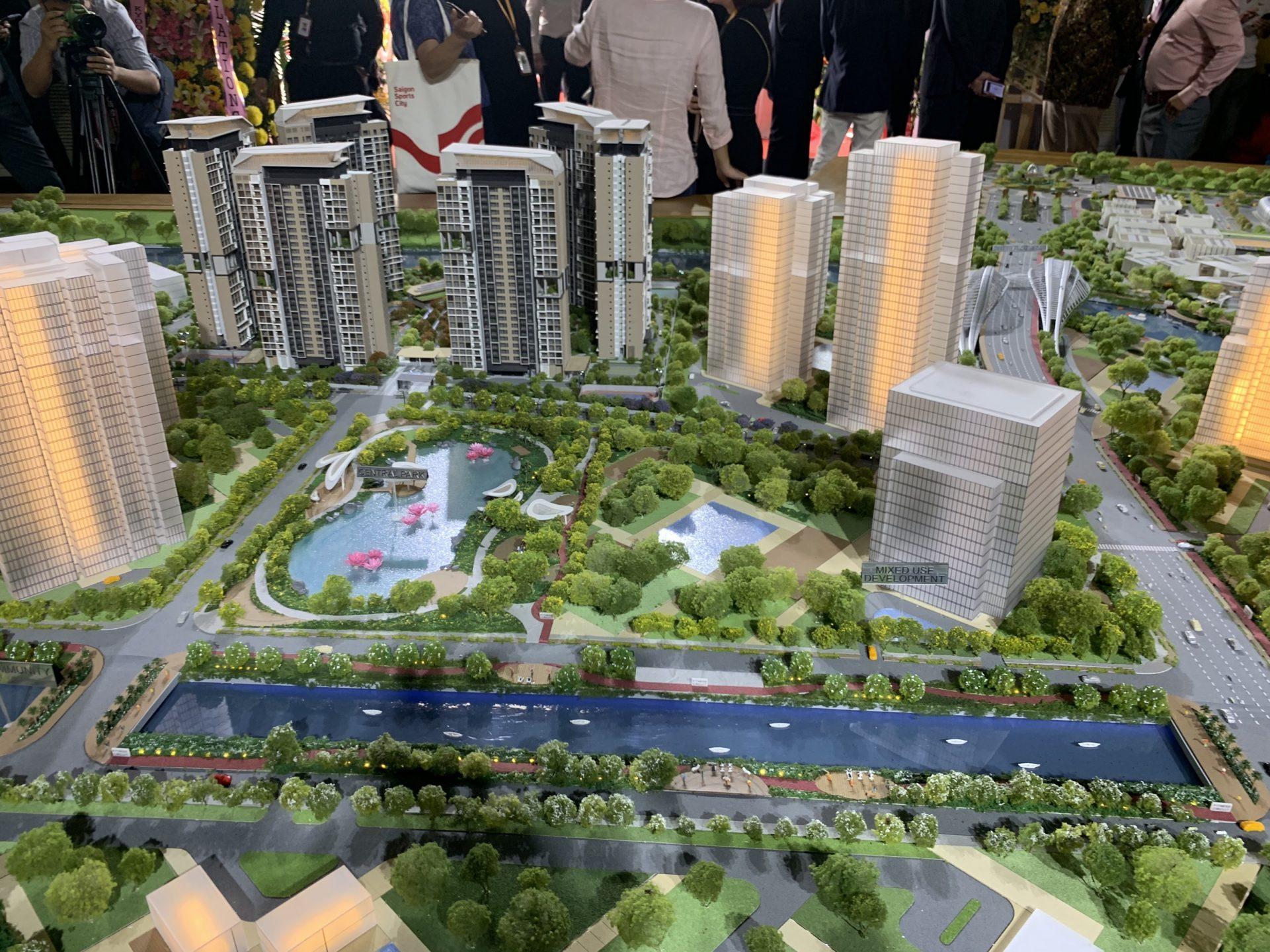Một góc dự án Saigon Sports City quận 2 - Căn hộ Velona Keppel Land.