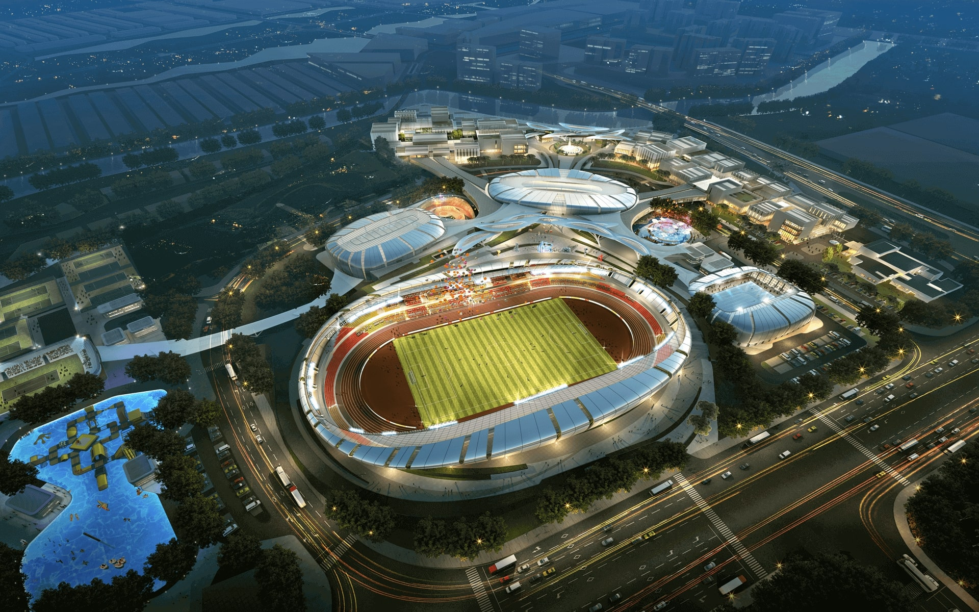 Phối cảnh dự án Saigon Sports City tại quận 2 - Căn hộ Velona Keppel Land.
