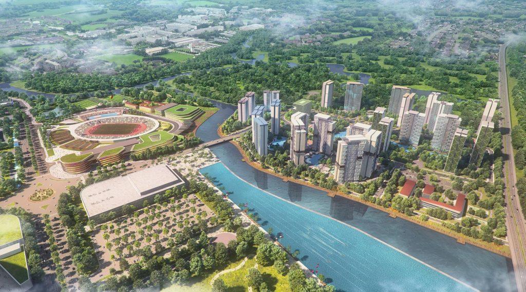 Toàn cảnh dự án Saigon Sports City quận 2 - Căn hộ Velona Keppel Land.